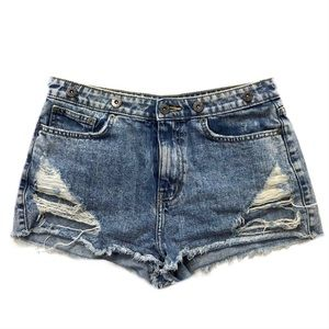 Carmar 27 shorts distressed studded vintage wash